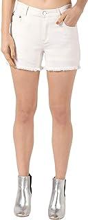 PepTrends Women's Denim Shorts with Raw Edges