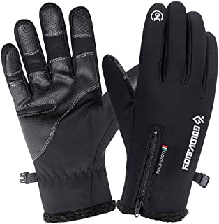 Homful Winter Touchscreen Gloves, Windproof Waterproof Thermal Thick Gloves, Skiing Running Cycling Driving Photography Outdoors Gloves for Men&Women