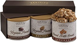 FERIDIES PEANUTS, 3-Flavor Variety Pack (Chocolate , Salted and Brittle Crunch)