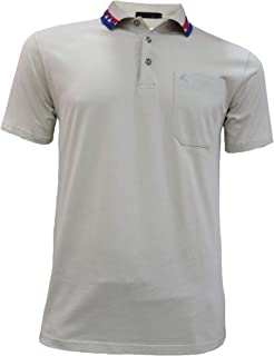 BLOOMMY Golf Shirts for Men-Solid Short Sleeve Polo Shirt