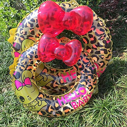 MARCU HOME Anillo de natación de leopardo de dibujos animados Adultos profesional flotante anillo engrosamiento hombres y mujeres salvavidas niños anillo de natación ( Size : 70Cm(5-9 years) )