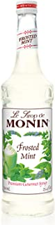Monin - Frosted Mint Syrup, Bold Spearmint Coolness, Natural Flavors, Great for Smoothies, Sodas, Cocktails, and Teas, Vegan, Non-GMO, Gluten-Free (750 ml)