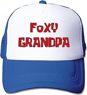 Foxy Grandpa Unisex Mesh Truck Hat Snapback Hats Outdoor Sports (5 Colors)