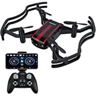 Drones with Camera - AKASO A21 Mini Quadcopter Drone Camera Live Video with 720P HD FPV WiFi RC...