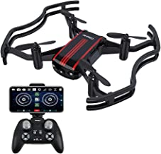 Drones with Camera - AKASO A21 Mini Quadcopter Drone Camera Live Video with 720P HD FPV WiFi RC Drone for Kids Beginners Adults - with One Key Take-Off/Landing, Optical Altitude Hold
