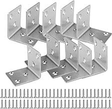 ManLee /Équerres de Fixation en Inox avec Vis 50 Pcs /Équerre de Coin 90 Degr/és Angle Droit Coin Support L en Forme Meubles Fixation Corner pour /Étag/ères en Bois Coffrets Armoire 40 x 40mm 20 x 20 mm
