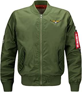 52b273b063a Vogstyle Men s Hip Hop Jacket Air Sky Flight Patch Embroidery Slim Fit Bomber  Jackets