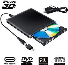 Externe Graveur Lecteur CD DVD Blu Ray 3D USB Type C USB 3.0 Ultra Slim de DVD CD-RW pour..