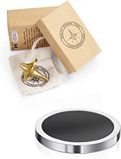 ForeverSpin 24kt Gold Plated(Brush-Finish) Top and Spinning Base Pack - World Famous Spinning Tops