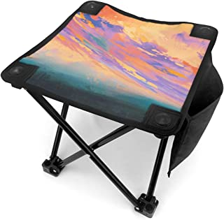 NP5N Almas Gemelas Camping Stool, Folding Samll Chair Portable Camp Stool for Camping Fishing Hiking Gardening and Beach, Camping Seat with Carry Bag