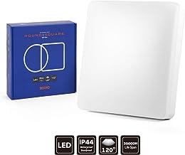 SEEDIQ® LED 15W Lámpara de Techo, Plafón led de Techo Cuadrada,Lámpara Dormitorio de Techo Impermeable,Blanco Neutro 4000K,luz para habitación,Cocina,Sala de Estar,baño[eficiencia energética A+]