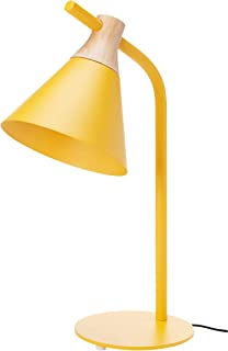 Umi. by Amazon - Lámpara para mesilla de noche cónica 5334cm amarillo
