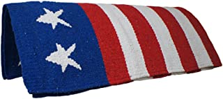 Tahoe Tack Hand Woven American Flag Patriotic Acrylic Western Horse Saddle Blanket - 32x64