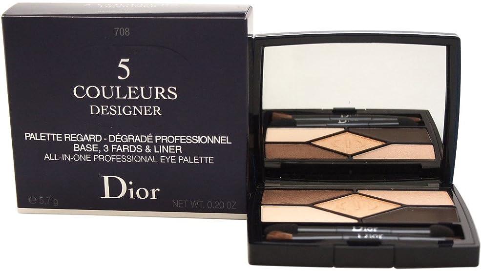 騒々しい哀れな盗賊クリスチャンディオール 5 Color Designer All In One Professional Eye Palette - No. 708 Amber Design 5.7g/0.2oz並行輸入品