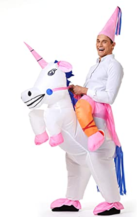 Yeahbeer Inflatable Halloween Costume Adult And Children Carry On Animal Fancy Dress Costume Large (Unicorn For Adult)