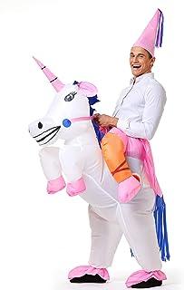 YEAHBEER Unicorn Costume Inflatable Suit Halloween Cosplay Fantasy Costumes Adult/Kids