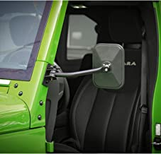 Voodonala for Jeep Reflection Mirrors Rectangular Quick Release Mirrors for 1997-2019 Jeep Wrangler TJ JK JKU 2 Pack