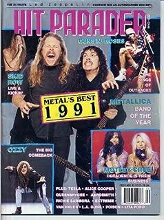 Hit Parader METAL'S BEST OF 1991 Ozzie Osbourne LITA FORD Tracii RICHIE SAMBORA Guns N' Roses JOEY TEMPEST February 1992 A