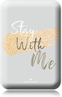 [SMART JEWEL] 【Stay with me】 モバイルバッテリー 軽量 小型 薄型 かわいい おしゃれ コンパクト 5000mAh 女子用 急速充電 2台同時充電 PSE認証取得済み iPhone ipad対応 iQos対応 SSC5-MG3-WH_zq