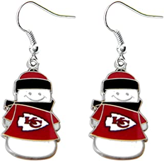 NFL Snowman Earrings