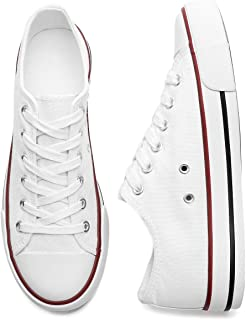 Walking Tennis Shoes for Women Classic Low Top Canvas Shoes Flats Comfortable