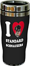 Tree-Free Greetings SG25128 I Heart Standard Schnauzers Sip 'N Go Stainless Lined Travel Tumbler, 16-Ounce