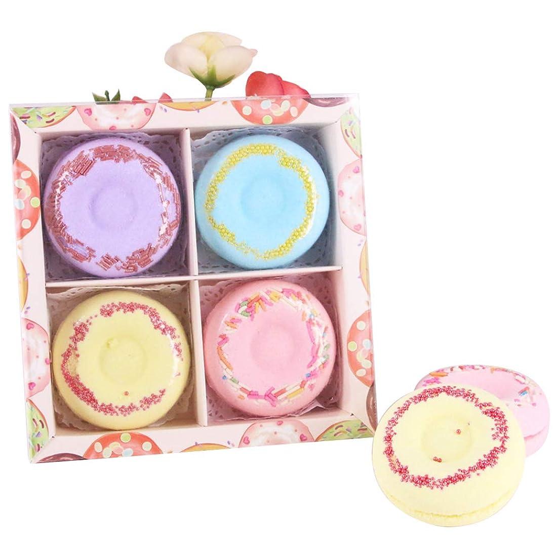 トランスミッションマーガレットミッチェルセラーFunpa 4枚セット 入浴剤 入浴ボール ドーナツ型 可愛い 精油 香り残す バレンタインデー 彼女のプレゼント お風呂用