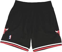 Mitchell & Ness Mens Bulls Swingman Shorts Black/Red Size S