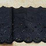 pizzo san gallo nero da 2 metri largo 100 mm da pretty lace company.