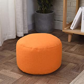 Pouf Pouf Coffre Tabouret,Solid Color Sac De Haricots Chaise De Plancher Conpourtable Reposé Pouf Amovible pour Salon Cham...