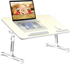 Laptop Desk for Bed,LEEHEE Adjustable Lap Bed Tray Folding Table Lap Stand with Internal USB Cooling Fan, for Home Office ...