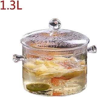 Viesky olla de vidrio de borosilicato de alta temperatura, cocina de cocina, segura y no tóxica B