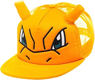Bioworld Pokemon Charizard Big Face Trucker Snapback Hat with Ears