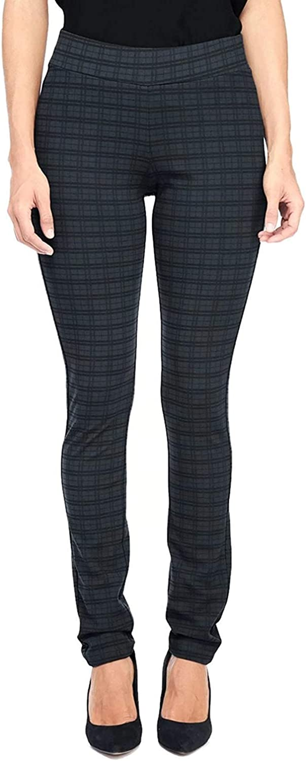 NYDJ Not Your Daughters Jeans Tattersall Plaid Legging Pull On Petite Pants $120 Size 00P