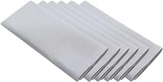 Surmente 20-Inch Polyester Cloth Napkins Linen Dinner Napkins - Set of 12 for Weddings, Banquets, or Restaurants (1-Dozen) (Silver)