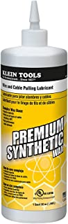 Klein Tools 56117 Premium Synthetic Wax Wire and Cable Pulling Lubricant, 1-Quart Squeeze Bottle