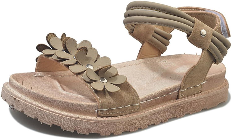 3dce02217d760 SUNNY Store Open Toe Sandals for Women Flowers Comfort Platform ...