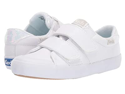 Keds Kids Courtney HL (Toddler/Little Kid) (White) Girl