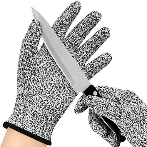 EKKONG Schnittsichere Handschuhe für Kinder, Schnitzhandschuhe Kinder, Schnittschutzhandschuhe, Arbeitshandschuhe, Level 5 Schutz, lebensmittelecht (Grau, M)