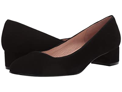 French Sole Dukemu Block Kitten Heel (Black Suede) Women