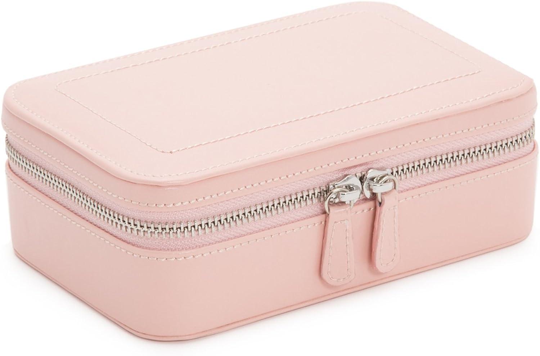 WOLF 392215 Sophia Zip Case Jewelry Box, pink Quartz