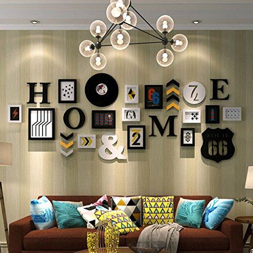 Cadre décoratif Mur de cadre décoratif en bois, cadres de mur de cadre photo de 13 Photo Suspension de mur aucun ongles de trace Creative décoratif Paintings Set (Couleur : B)