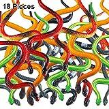 18 Piezas de Serpientes de Plástico Serpientes de Selva Juguete de...