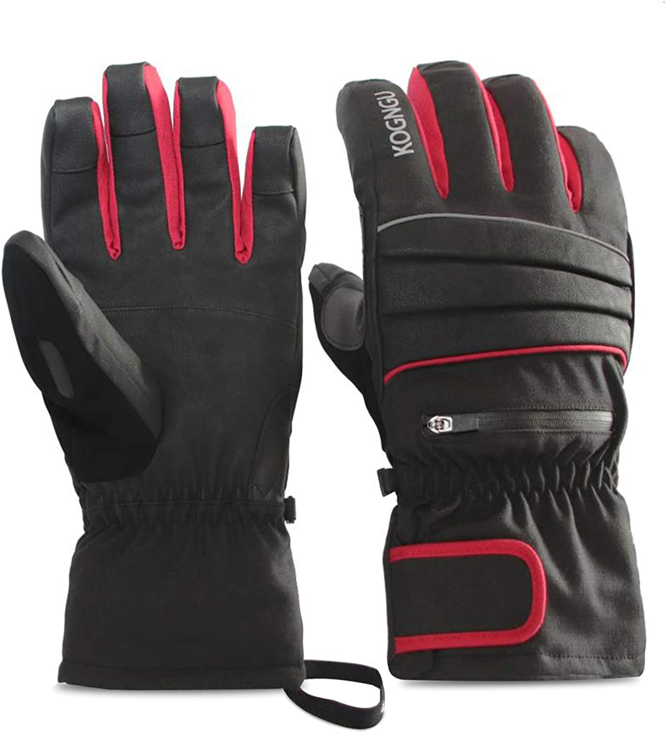 shop KOGNGU Ski Gloves Cheap mail order shopping Warm Waterproof fo 3M Cotton Thermal Insulated