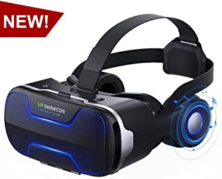 VR Headset,Virtual Reality Headset, VR SHINECON 3D VR Glasses for Movies, Video,Games - Virtual Reality Glasses VR Goggles for iPhone, Android and Other Phones Within 4.7-6.0 inch