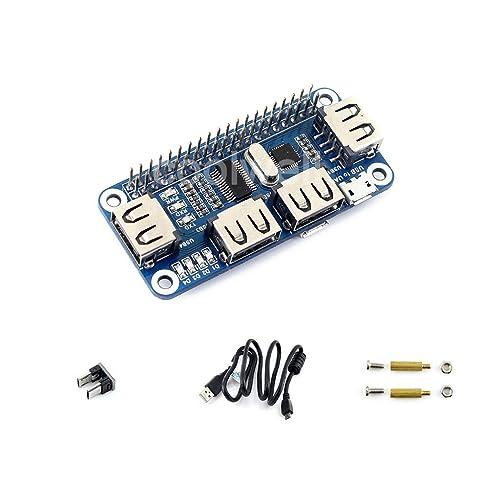 Raspberry pi 4 Port USB HUB HAT Compatible With USB2.0 1.1 For Raspberry Pi Zero/W A+ B B+ 2 3 Model B Serial Debugging Onboard USB to UART