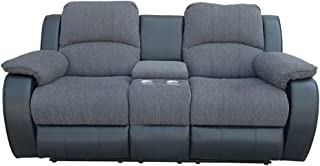 Double Recliner Sofa,Reclining Loveseat with Console Warm Fabric for Couples in TV Room,Living Room,Home Theater in Cold Winter (with Console)