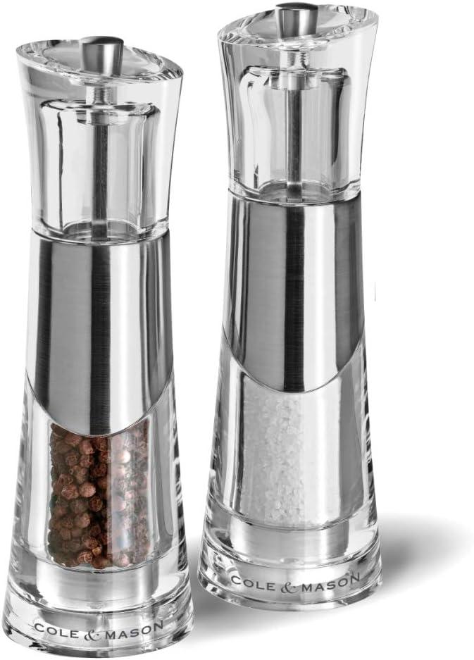 Cole Mason Bobbi Salt 55% OFF Award Pepper Mill Set Transparent Gift