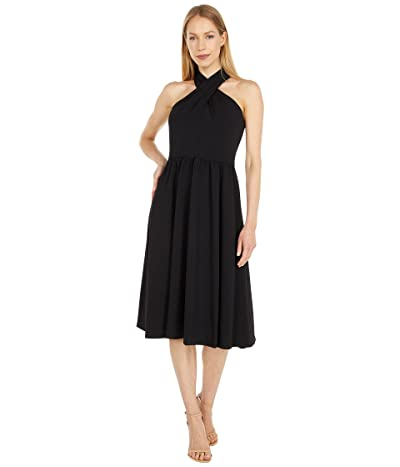 Calvin Klein Cross Neck A-Line Dress