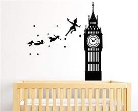 Tinkerbell tatuajes de pared Peter Pan Neverland Tinkerbell Big Ben Walt tatuajes de pared decoración para el hogar Nursery decoración de la pared